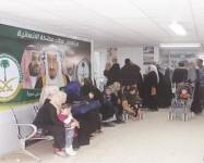 العيادات التخصصية السعودية تتعامل مع 2477 حالة مرضية في مخيم الزعتري