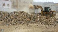بلدية الرفيعة ترفع 3114 متر مكعب من المخلفات والأنقاض مجهولة المصدر