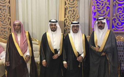 """""""البشري"""" يحتفل بزواجه على كريمة الشيخ محمد بن هجهوج"""