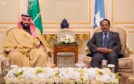 سمو ولي ولي العهد ورئيس الصومال يبحثان التعاون الثنائي والمستجدات في المنطقة