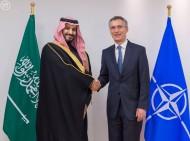 """سمو ولي ولي العهد يلتقي الأمين العام لحلف شمال الأطلسي """" الناتو"""