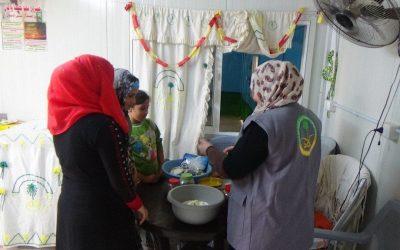 الحملة الوطنية السعودية لنصرة الأشقاء في سوريا تواصل أعمالها بمخيم الزعتري