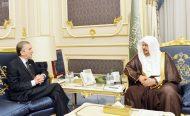 رئيس مجلس الشورى يستقبل السفير الجزائري