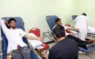 منسوبو تقنية المدينة المنورة يتبرعون بالدم تضامناً مع جنودنا في الحد الجنوبي