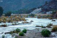 وادي نجران يجذب الأهالي للتنزه على ضفافه