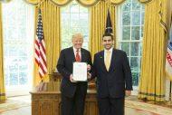 ترامب يستقبل سمو سفير خادم الحرمين الشريفين لدى الولايات المتحدة الأمريكية