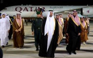 نائب أمير قطر يصل الرياض لتقديم العزاء في وفاة الملك عبدالله بن عبدالعزيز