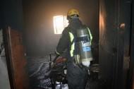 اصابة ٤ أطفال بالاختناق جراء حريق بالحوية