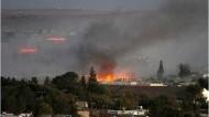 انفجارات قوية في عين العرب قبل وصول مقاتلي كردستان العراق