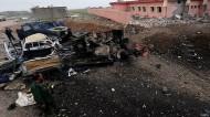 """تنظيم """"الدولة الإسلامية"""" يحاول السيطرة على أكبر قاعدة جوية في الأنبار"""