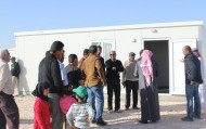 """نصرة الاشقاء تستبدل خيام الزعتري بالوحدات السكنية الجاهزة ضمن برنامج """"شقيقي بيتك عامر"""""""