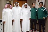 رئيس اتحاد القدم يكرم الحكمان المرداسي و الشلوي
