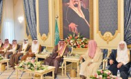 نائب خادم الحرمين الشريفين يستقبل أصحاب السمو الأمراء وأصحاب الفضيلة والمعالي الوزراء وكبار المسؤولين
