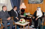 سمو الأمير متعب بن عبدالله يستقبل السفير البولندي
