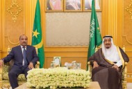 خادم الحرمين الشريفين يعقد جلسة مباحثات مع رئيس الجمهورية الموريتانية