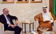 وزير الخارجية يستقبل رئيس لجنة الشؤون الخارجية بالبرلمان البريطاني وسفيري تركيا وإيران لدى المملكة