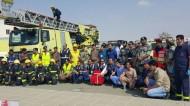 تنفيذ تجربة فرضية في مبنى مركز تدريب قوات الطوارئ بالعاصمة المقدسة