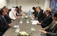الجبير يجتمع بالأمين العام للأمم المتحدة على هامش قمة العمل الإنساني