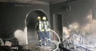 إصابة شخصين نتيجة حريقً اندلع في عمارة سكنية بمكة