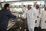 الجاسر يتفقد سير العمليات التشغيلية للخطوط السعودية في الصالة رقم (5) بالرياض