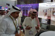 الخطوط السعودية تستعرض أجهزتها الذكية المحدثة في معرض سوق السفر بدبي