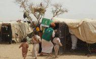 مركز الملك سلمان للإغاثة يقدم 4121 سلة غذائية لنازحي محافظة الجوف اليمنية