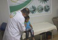 العيادات التخصصية السعودية بمخيم الزعتري تتعامل مع 3165 حالة مرضية