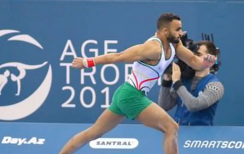 لاعب المنتخب السعودي جعفر الصايغ رابع العالم في الجمباز