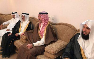 الأمير تركي بن طلال ينقل تعازي القيادة لأسرة وكيل الرقيب العمري
