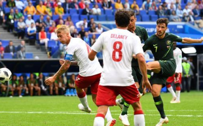 كأس العالم 2018.. التعادل الايجابي يحسم مواجهة المنتخبان الأسترالي والدنماركي