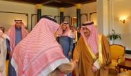 أمير تبوك يستقبل المعزين في وفاة الملك عبدالله والمبايعين للقيادة الرشيدة