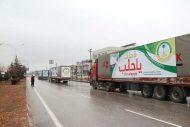 """الحملة الوطنية السعودية تواصل تقديم المساعدات الإغاثية للنازحين في الشمال السوري ضمن مبادرة """"لأجلك يا حلب """""""