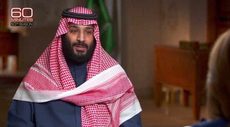 """ولى العهد : """"إيران ليست نداً للسعودية.. وخامنئي هو هتلر الجديد"""""""