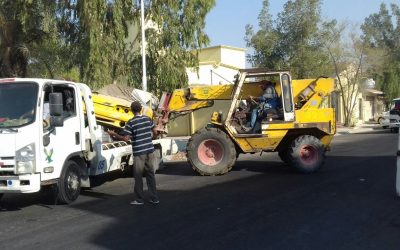 رفع ١٢٤ مركبة تالفة في مدينتى الخبر والظهران