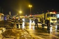3 اصابات في حريق سيارة نشب عند تعبئتها في محطة وقود بحائل