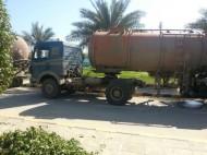 بلدية الجبيل تضبط عدد (6) صهاريج صرف صحي أثناء قيامها بالتفريغ في احد المخططات الجديدة
