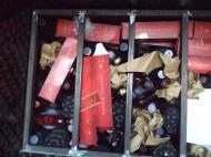 احباط محاولة تهريب (240) زجاجة خمر للمملكة