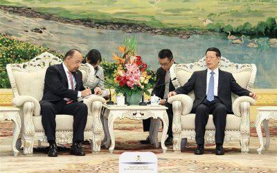 وزير الطاقة يلتقي في بكين نائب رئيس مجلس الدولة الصيني