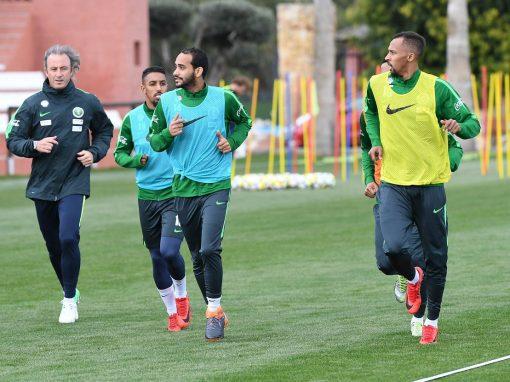 الأخضر يواصل تدريباته اليومية ضمن معسكره الإعدادي في أسبانيا