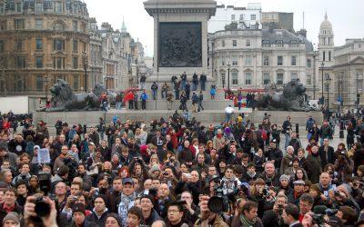 مظاهرات في لندن تطالب بإعادة الاستفتاء حول خروج بريطانيا من الاتحاد الأوروبي