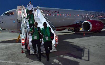 الأخضر يصل فولغوغراد لمواجهة مصر في ختام مشاركته فى مونديال روسيا
