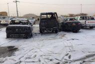 """"""" مدني نجران """" يباشر بلاغاً عن سقوط مقذوف عسكري في حي سكني"""
