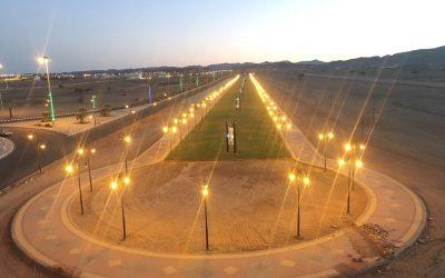 بلدية أبوراكة تنهي أعمال إنشاء مضمار المشاة الواقع في وسط المركز