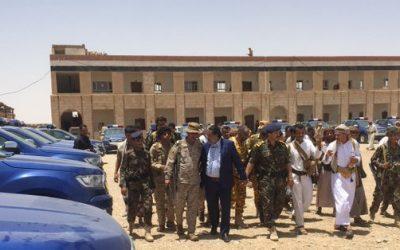 شرطة محافظة الجوف اليمنية تتسلم 30 طقماً امنياً مقدمة من المملكة