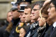 ماكرون ولوبن حضرا مراسم تكريم الشرطي ضحية اعتداء الشانزيليزيه