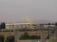 طائرات الأسد تلقي بالبراميل المتفجرة على مخيم خان الشيخ للاجئين الفلسطينيين