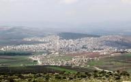 صورة عامة لمدينة عفرين في ريف حلب بشمال سوريا. أرشيف رويترز.