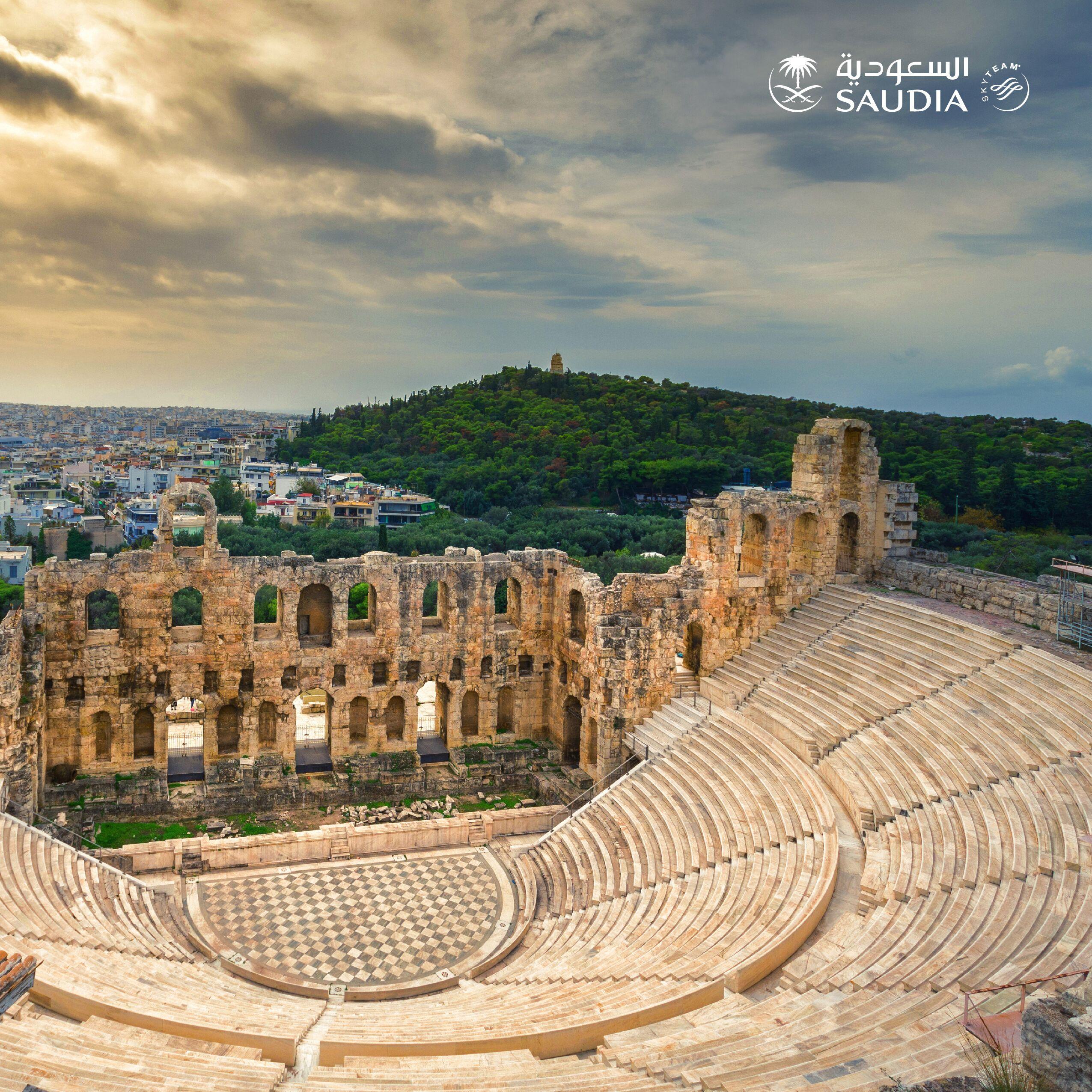 """""""السعودية"""" تدشن وجهات 2019 الجديدة بتسيير رحلات مباشرة إلى  """"أثينا"""" اعتباراً من يونيو"""