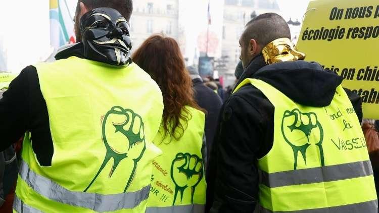 """إصابة 3 محتجين من حراك """"السترات الصفراء"""" في حادثة دهس"""