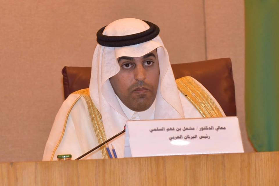 رئيس البرلمان العربي يحذر من النتائج الوخيمة لقرار الاعتراف بسيادة قوة الاحتلال على الجولان